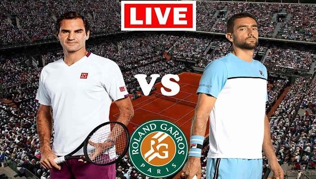 EN VIVO   Roger Federer vs. Marin Cilic   Roland Garros 2021   Ver gratis online en directo el partido de tenis en Tv