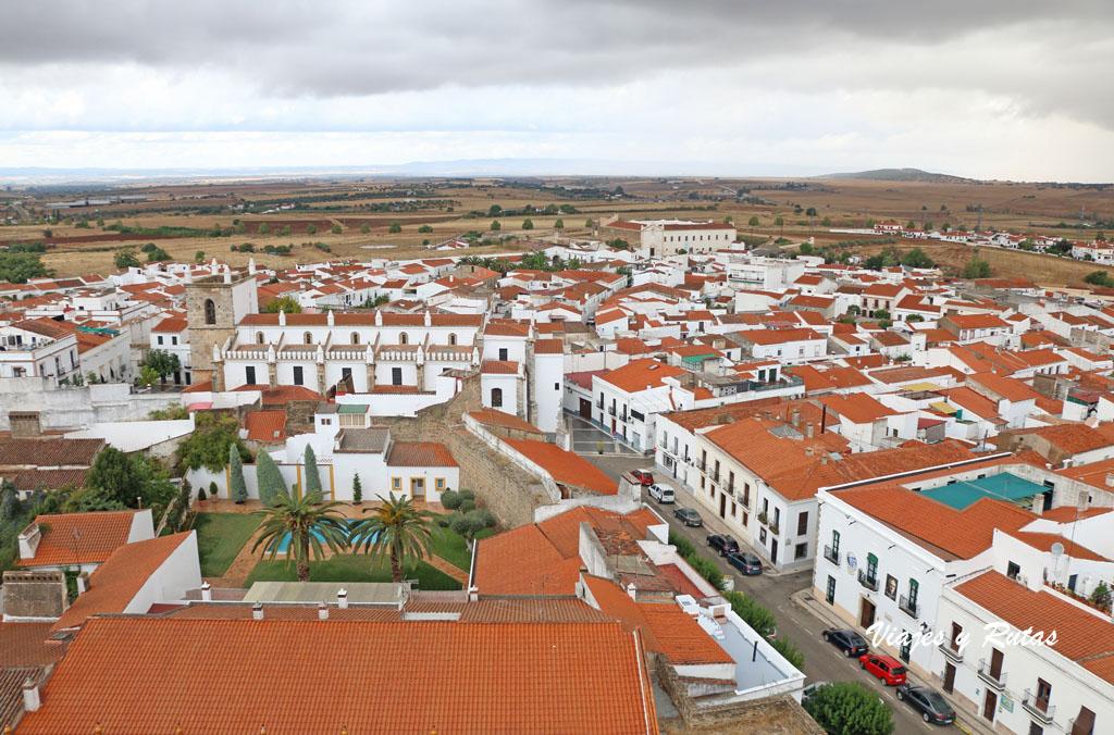 Vista general de Olivenza desde el Castillo