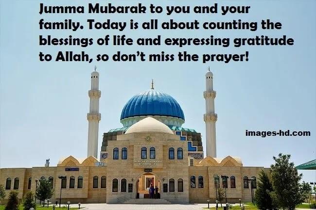 Don't miss the jumma Mubarak prayer