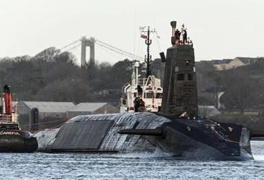 Submarino HMS Vanguard da Marinha Real Britânica