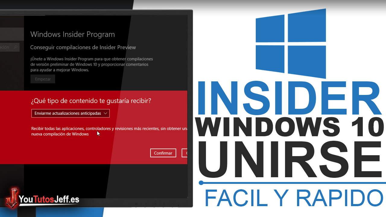 Como ser Insider de Windows 10 - Windows 10 Gratis y Ultimas Novedades
