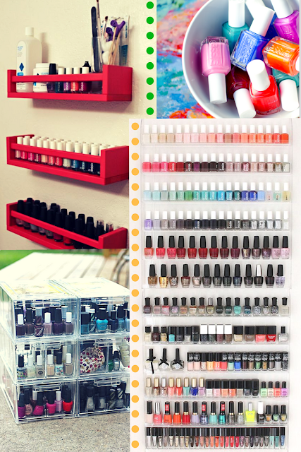 How to organise your nail polishes and your home nail station with creativity. Tips and tricks