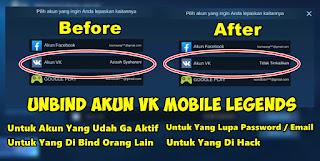 Cara Unbind Akun VK Mobile Legends Yang Sudah Tidak Aktif