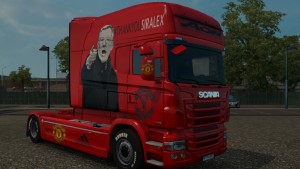 Manchester United Skin for Scania RJL