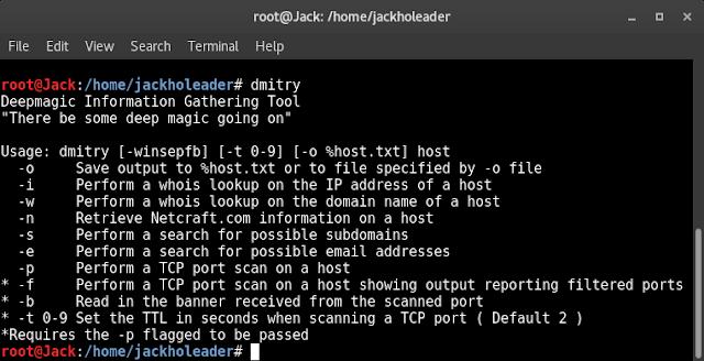 Cara Scan Website Dengan DMitry di Kali Linux   Information Gathering