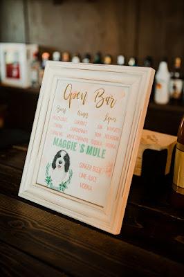 wedding reception bar sign