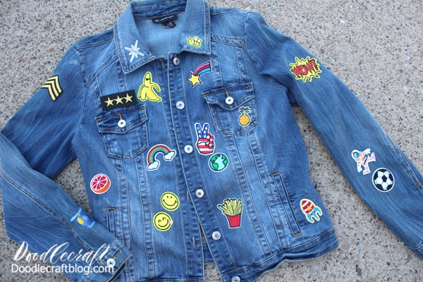 Add patches all over the jacket for the perfect statement piece!