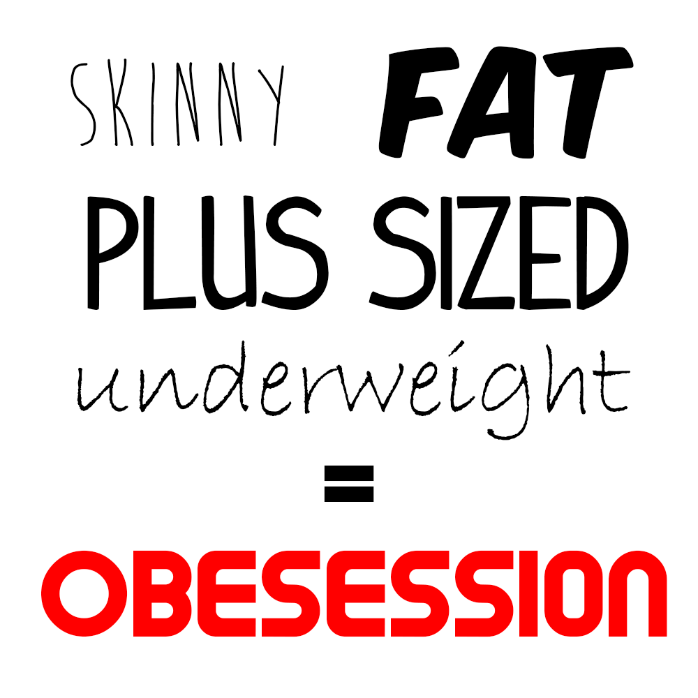 What is obsession with body size?