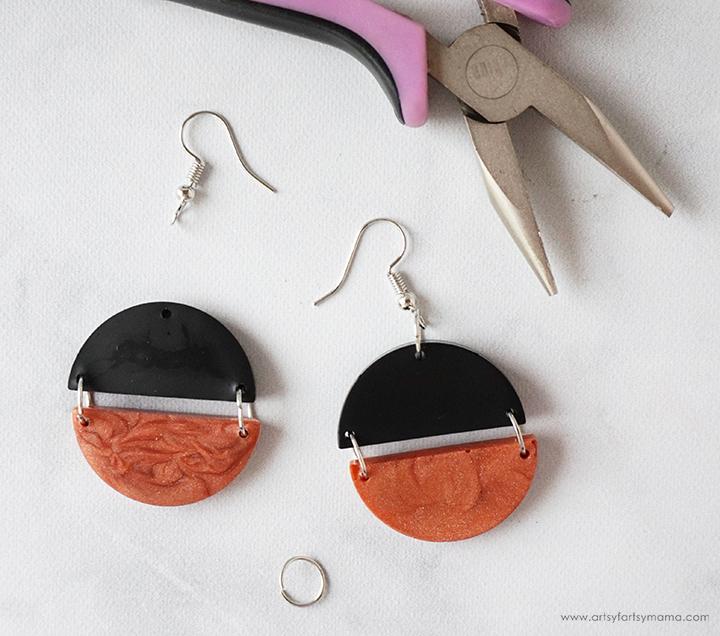 Modern Clay Earrings Tutorial
