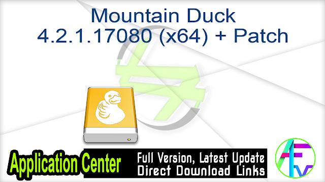 Mountain Duck 4.2.1.17080 (x64) + Patch