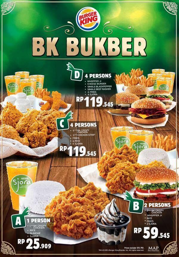 Paket Buka Puasa BK BukBer di Burger King 2017