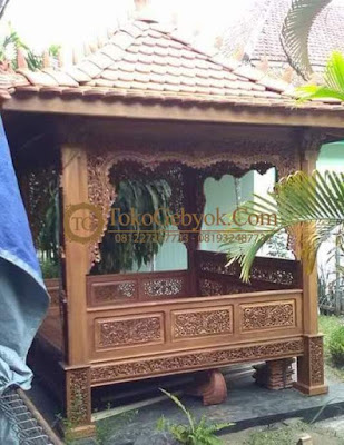 Gazebo Model Gebyok Jati Ukir