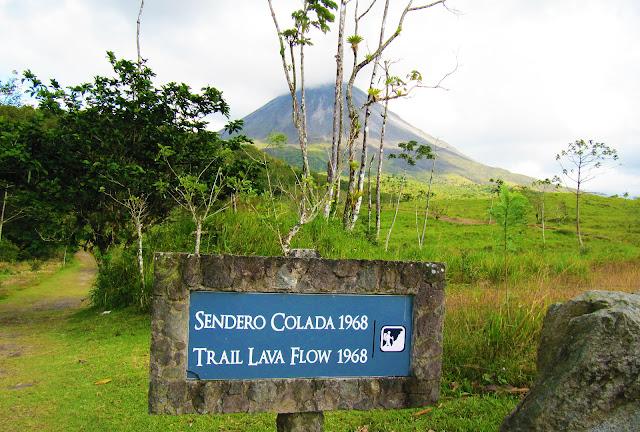 Sendero de las Coladas, volcán Arenal