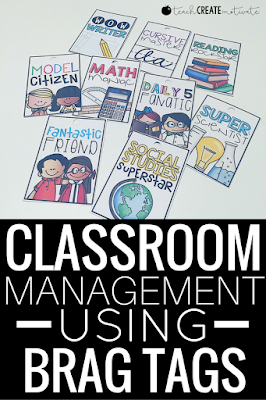 Beat the end of the year blues by using brag tags for classroom management!