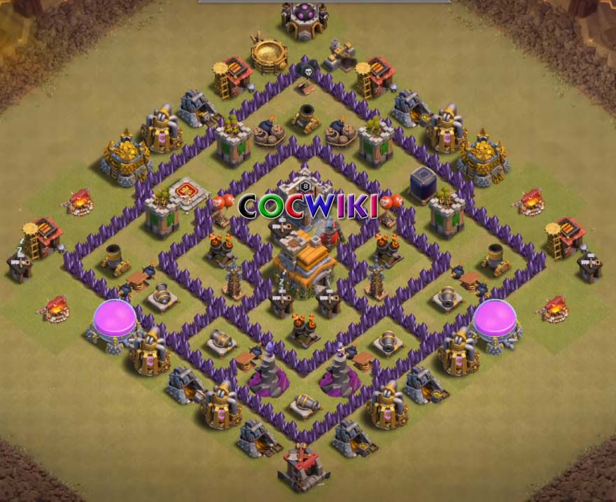 clash of clans level 7 war base