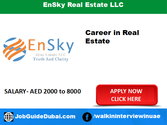 EnSky Real Estate LLC career for Relationship Manager and Office Admin jobs in Dubai
