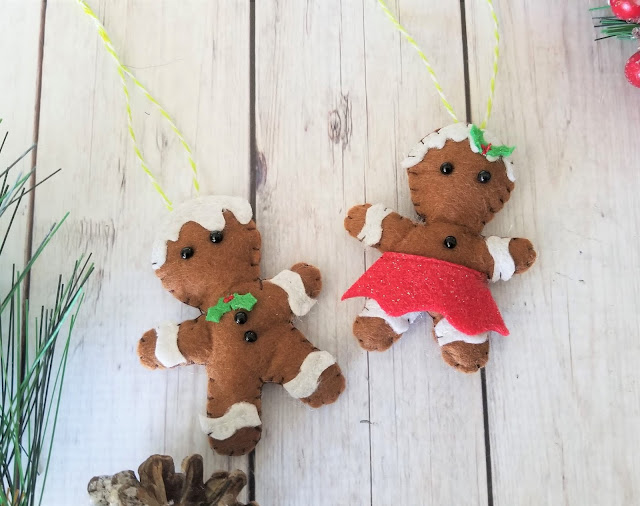 felt Christmas ornament gingerbread man