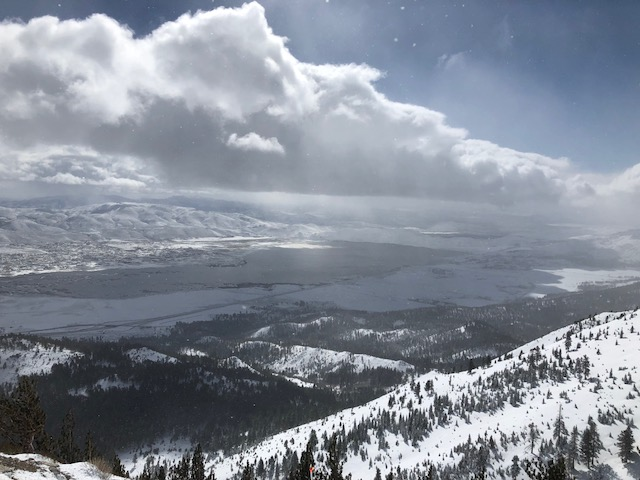 Mt Rose Ski resort looking over Washoe Valley