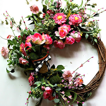 May Day Country Cottage Wreath