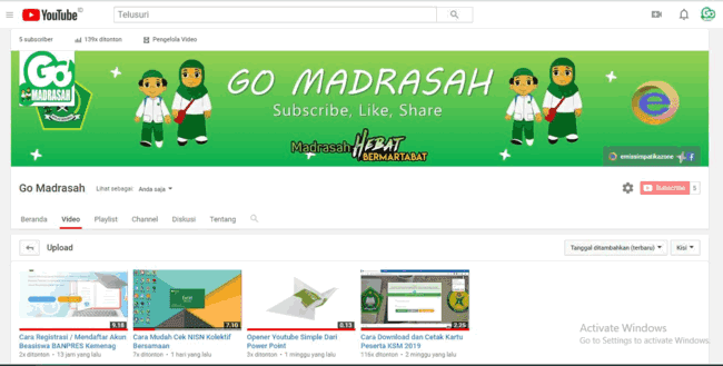 Subscribe Go Madrasah Channel Youtube Resmi Emissimpatikazone