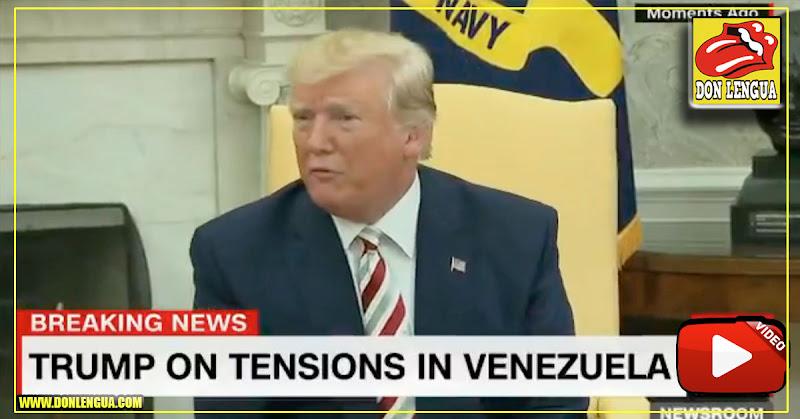 Donald Trump confirma que está en conversaciones secretas con representantes del Régimen