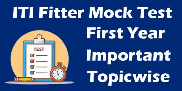 ITI Fitter Mock Test