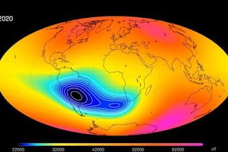 Campo magnético sobre América do Sul enfraquece e pode afetar satélites