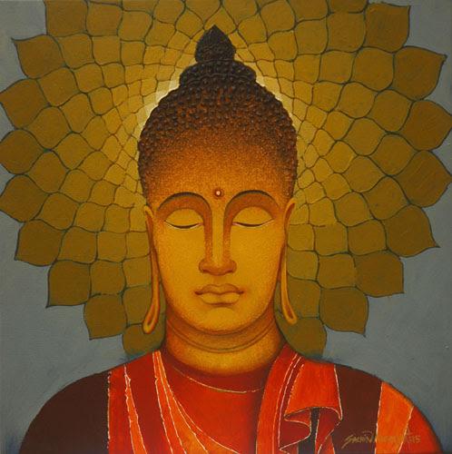 """Mind Waves"""" Paintings of The Buddha by Sachin Kumawat"""