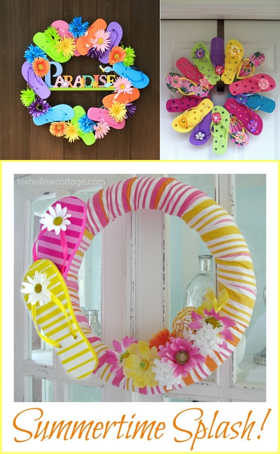 Diy Dollartree Flip Flop Summer Wreath Handy Diy