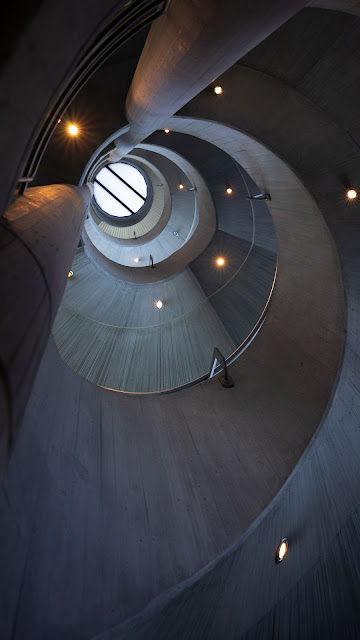 Architecture, Building, Spiral, Roof, Interior, Light