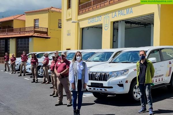 El Cabildo de La Palma mejora su capacidad de actuación en emergencias forestales con ocho todoterrenos