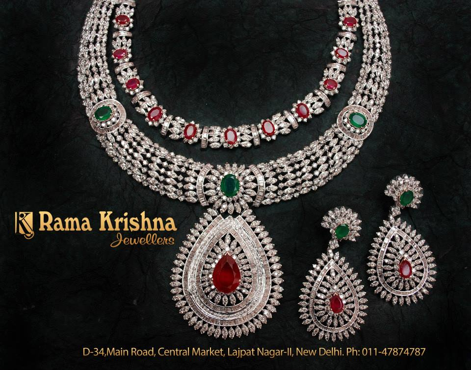 Indian Jewellery And Clothing Heavy Bridal Diamond