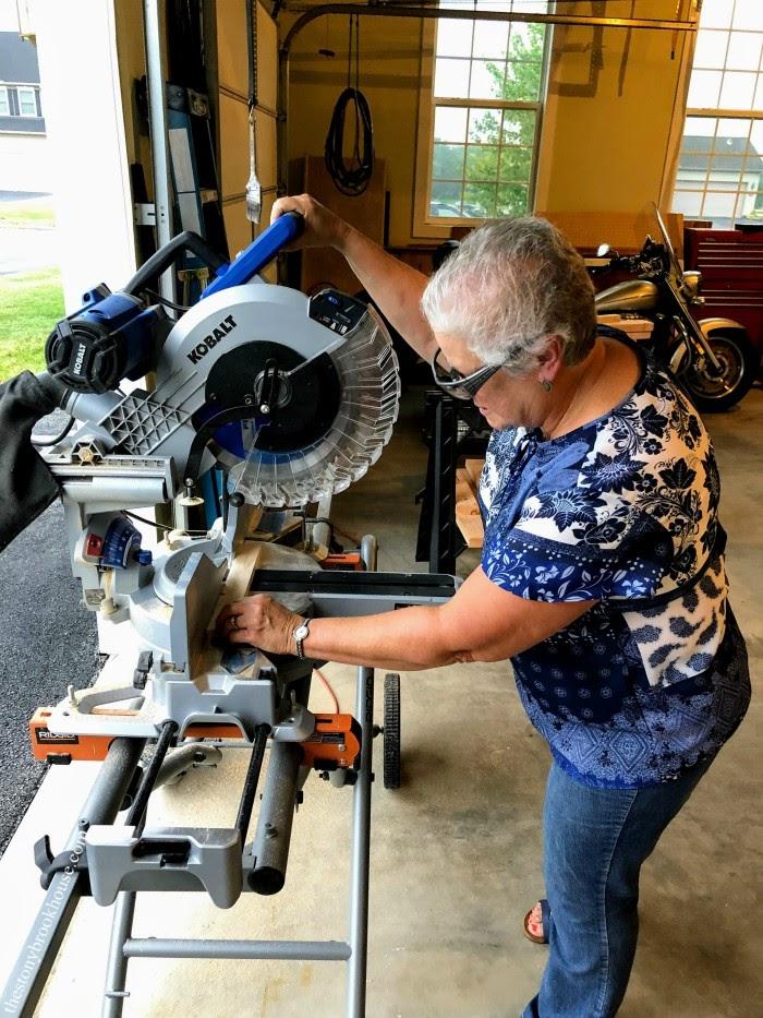 Using miter saw