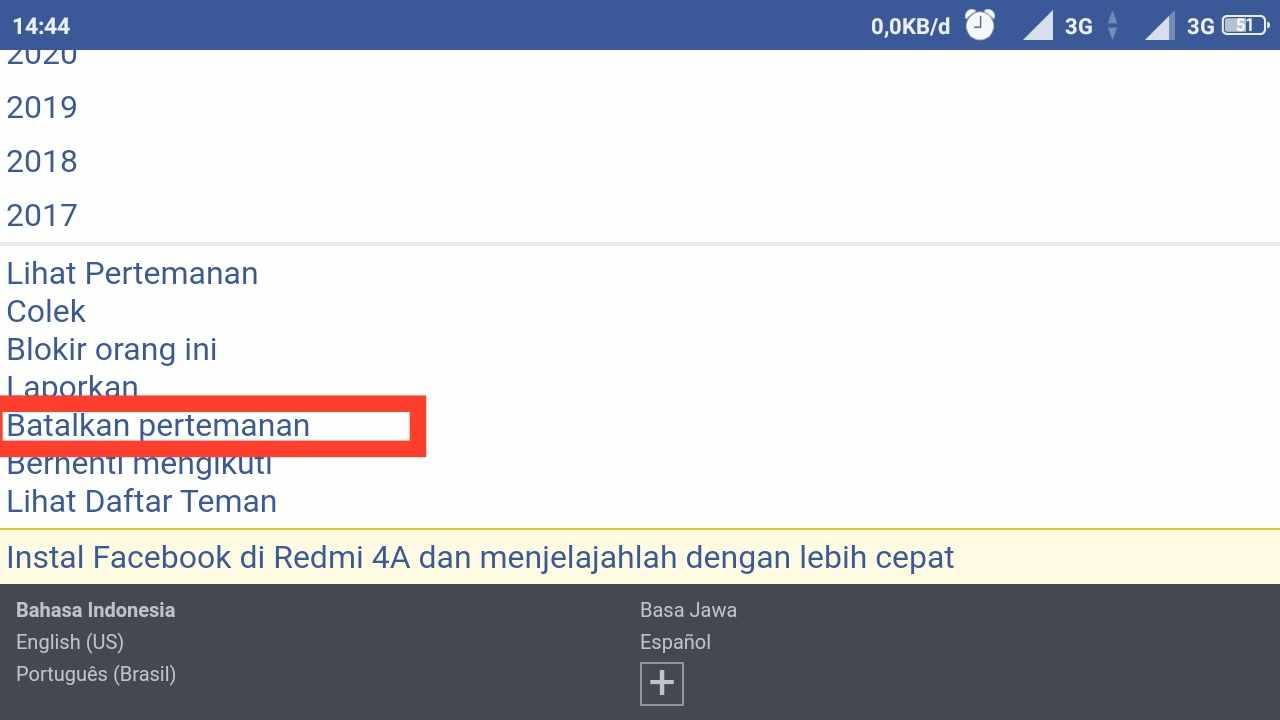 Cara menghapus pertemanan di FB secara Massal