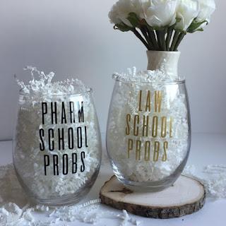 Law School Probs wine glass | brazenandbrunette.com