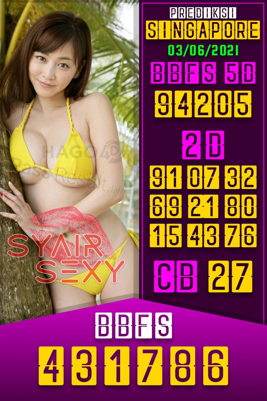 Syair Sexy - Bocoran Togel Singapore