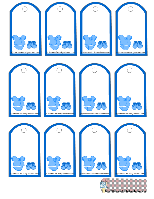 Boy Baby Shower, Free Printable Tags.