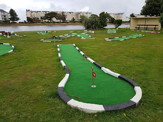 The TT-themed Crazy Golf course at Mooragh Park