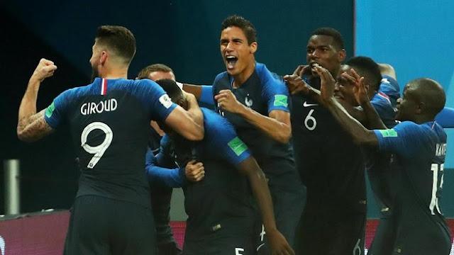 Hasil Pertandingan Piala Dunia 2018: Prancis vs Belgia Skor 1-0