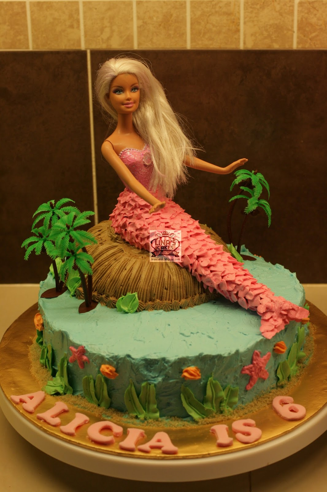 Linascakes Baked By Angels Barbie Mermaid S Cake