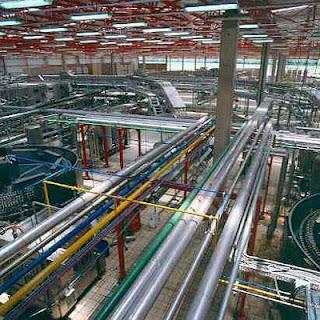 interior industria cervejeira processo