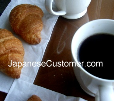 Fresh bakery breakfast in Kyoto, Japan  Copyright P.Hanami 2014