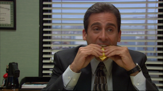 Image result for gotta watch those carbs michael scott