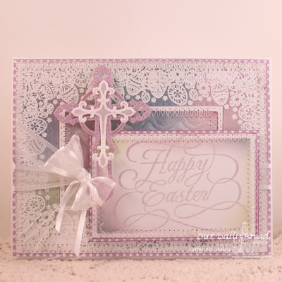 Our Daily Bread Designs Stamp Sets: Easter Egg Background, Flourished Happy Easter, Our Daily Bread Designs Custo Dies: Rectangles, Double Stitched Rectangles, Ornamental Crosses, Boho Background, Our Daily Bread Designs Paper Collection: Pastel Paper Pack 2016