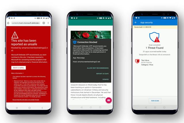 Microsoft Rilis Preview Untuk Aplikasi Antivirus Defender Versi Android