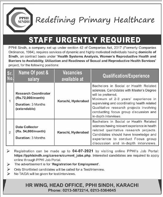 Redefining Primary Heathcare Jobs 2021 – Latest Jobs in Pakistan 2021
