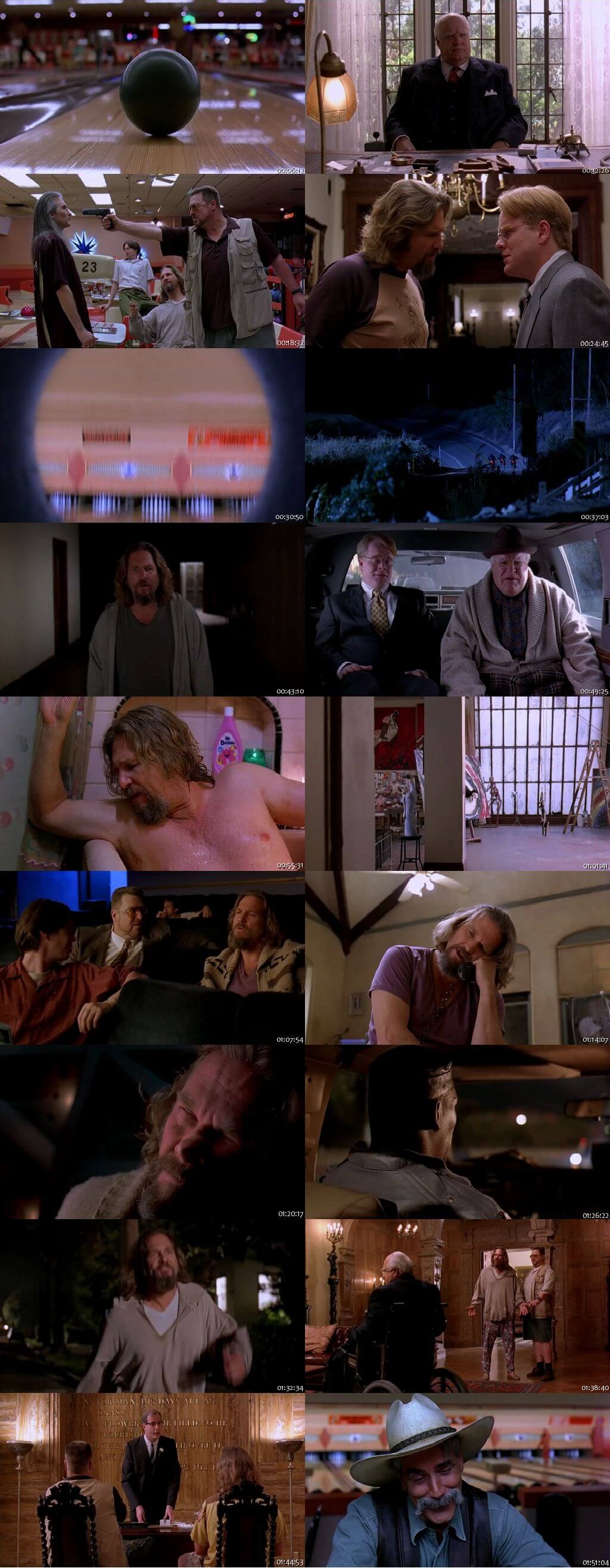 Screen Shot Of The Big Lebowski 1998 300MB Full Movie Hindi Dubbed Free Download 480P BRRip Small Size PC Movie