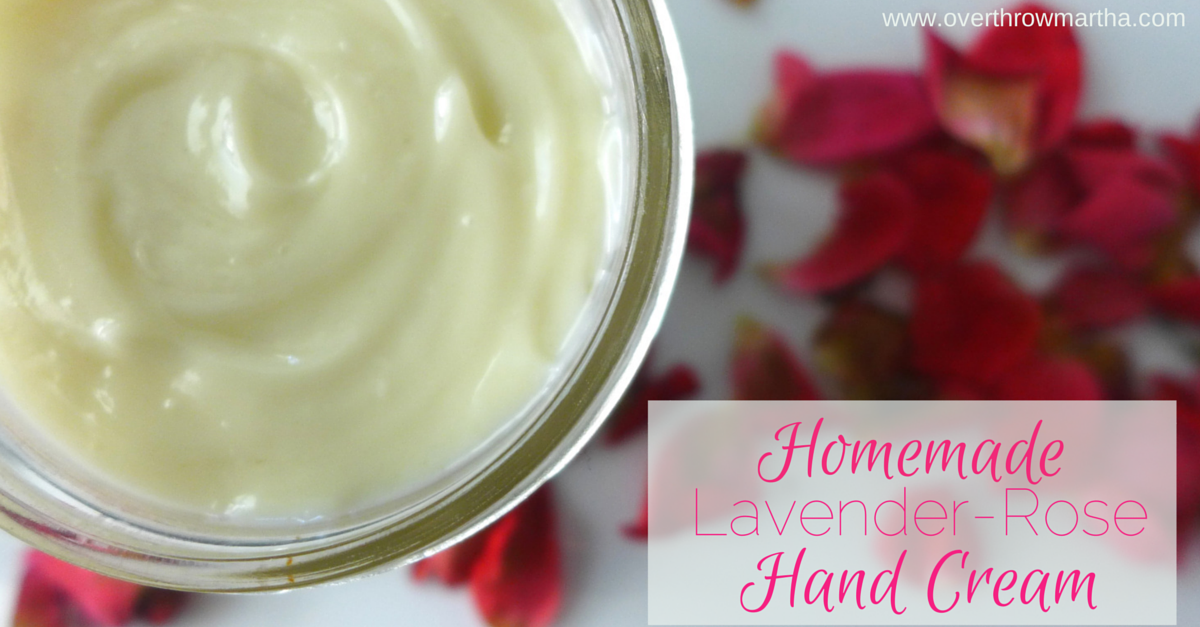 How to make luxurious lavender-rose hand cream