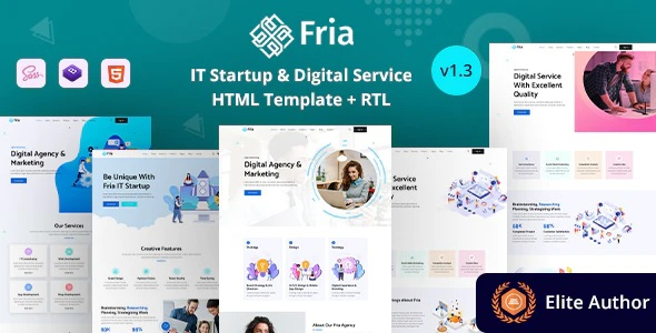 IT Startups & Digital Services HTML Template