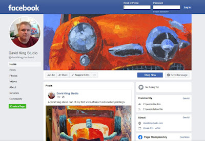 facebook art business page artist art for sale